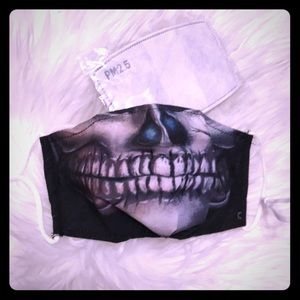 Other - Washable Skull Mask with 2 Filters